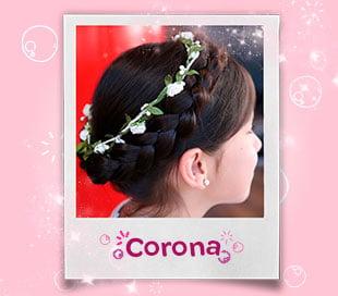 Peinado de Corona